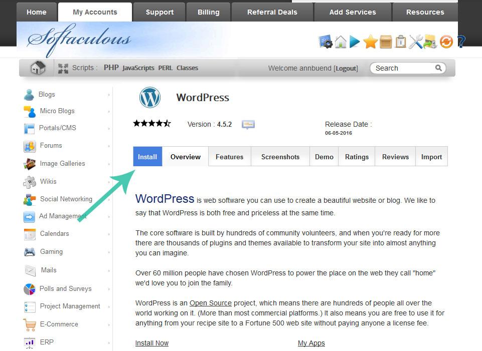 startawebsite-siteground-installwordpress-clickinstall